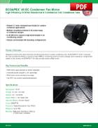 ECOAPEX™ 48 EC Condenser Fan Motor