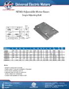 NEMA Adjustable Base Single Adjusting Bolt