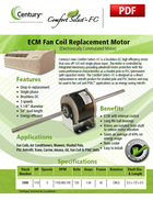 ECM Fan Coil Replacement Motor