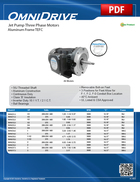Jet Pump Motors (Aluminum Frame TEFC)